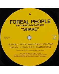 Foreal People Featuring David Grant - Shake