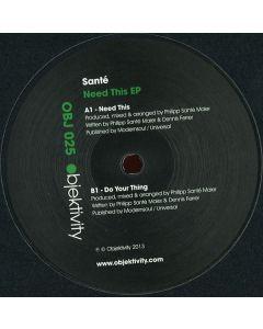 Santé - Need This EP
