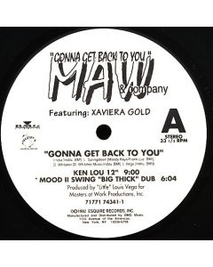 Masters At Work Featuring Xaviera Gold - Gonna Get Back To You